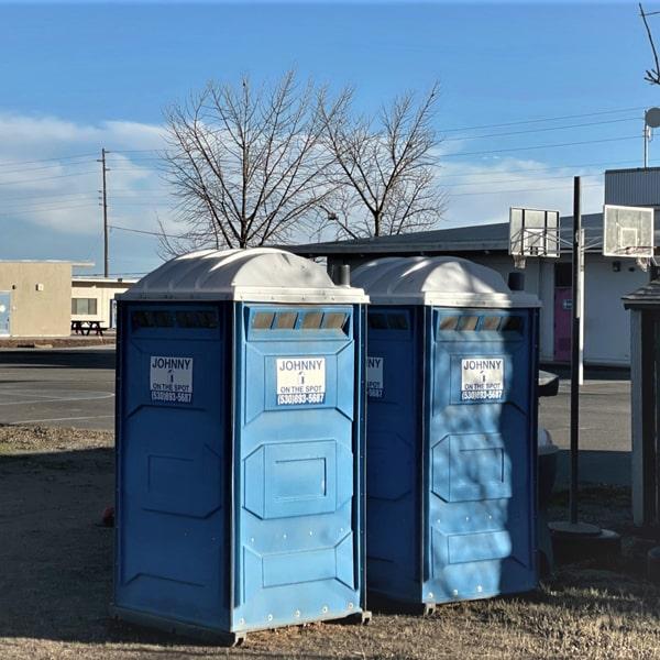 standard blue units outside school