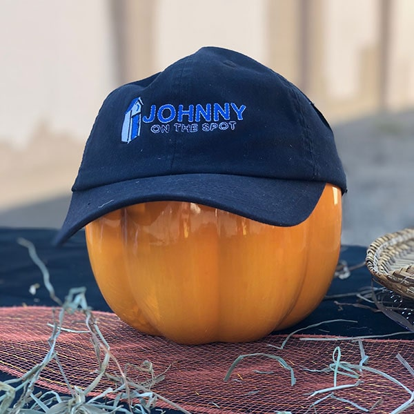 jots hat on pumpkin